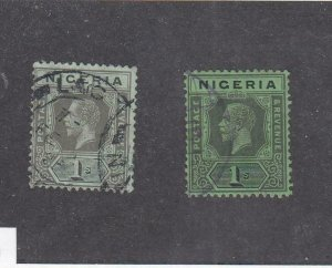 NIGERIA # 8-8a,8-9 VF-KGV ISSUES TO 2/6d CAT VALUE $42.50