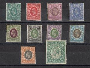 Somaliland KGV 1921 Set To 1 Rupee SG73/82 MH JK885