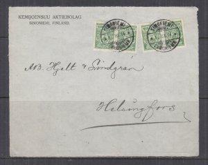 FINLAND, 1914 front, Russia 2k.(4). SIMONIEMI to Helsinki.