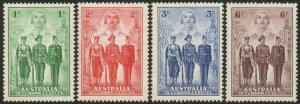 AUSTRALIA-1940 A.I.F. Set Sg 196-199 slight gum toning LMM V47873