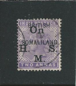 SOMALILAND OFFICIAL 1903 2a PALE VIOLET FU SG O3 CAT £55