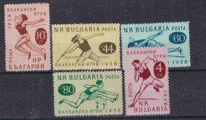 BULGARIA ^^^^1958  # 1030-1034    hinged set (  SPORTS) $$@ dca1308bulg