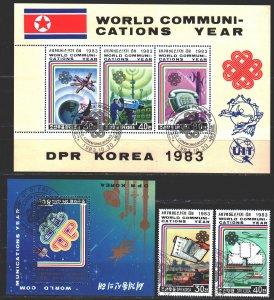 North Korea. 1983. 2400-01, bl152,153. International Year of Telecommunicatio...