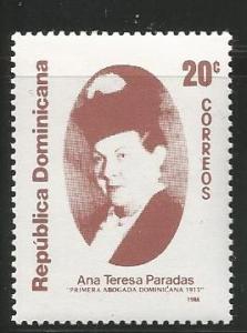DOMINICAN REPUBLIC 1048, MNH STAMP, ANN TERESA PARADAS (1890-1960), 1ST FEMAL...