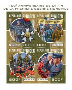 HERRICKSTAMP NEW ISSUES NIGER Anniv. End of WW II Sheetlet