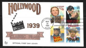 USA 2448a Classic Films Steve Harkness First Day Cover FDC (z4)