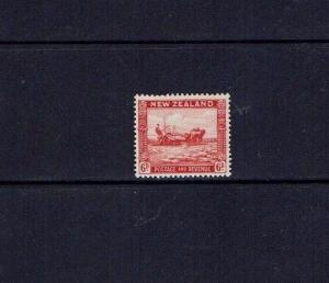 New Zealand: 1936 6d Harvesting scarlet, SG 585, mint lightly hinged