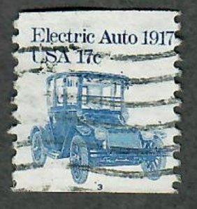 US #1906 Electric Auto Used PNC Single plate #3