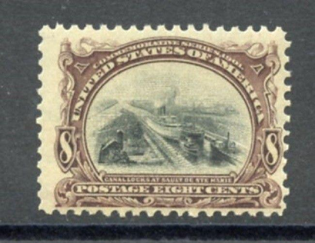 U.S. Scott 298 MNH 8 Cent Pan-American Exposition Picturing Ship in Canal Locks