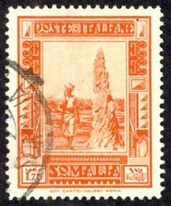 Somalia Sc# 149a Used (perf 14) 1934-1937 1.75l red orange Definitives