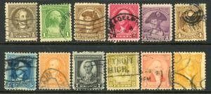USA 704-715 Used Complete Set