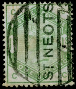 SG196, 1s dull green, USED. Cat £325. CC