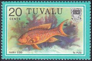 Tuvalu # 104 mnh ~ 20¢ Fish