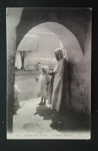 1914 Tozeur Tunisia To London England Woman & Girl Begging On Street Cover