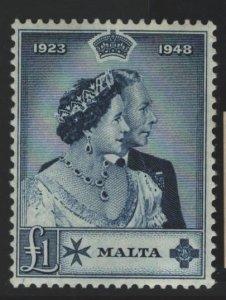 Malta Sc#224 MNH - tan gum, 1 tiny tone spot