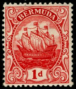 BERMUDA SG46, 1d Red, M MINT. Cat £20.