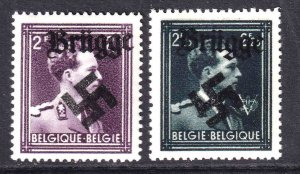 BELGIUM 289-290 WW2 BRÜGGE OVERPRINT OG NH U/M VF BEAUTIFUL GUM