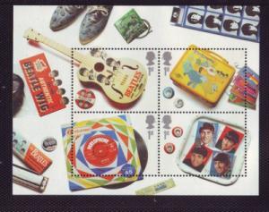 Great Britain Sc 2420 2007 Beatles Memoribilia stamp sheet mint NH
