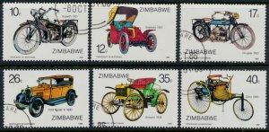 Zimbabwe SG 700 - 705  SC# 535 - 540  CTO Used Motoring  see detail and scan