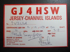 10486 Amateur Radio QSL Card JERSEY CHANNEL ISLANDS