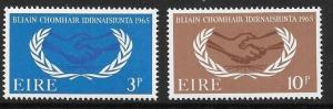 IRELAND SG209/10 1965 CO-OPERATION YEAR MTD MINT