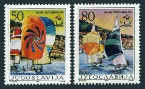 Yugoslavia 1784-1785,1786,MNH.Mi 2167-2168,Bl.28. Sailing Championships 1986.