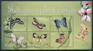 [108985] Carriacou & Petite Martinique 2000 Insects butterflies Mini sheet MNH