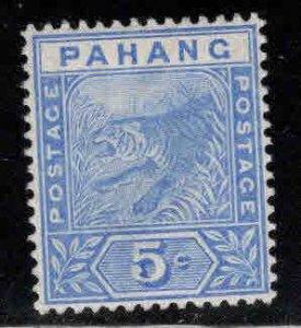 MALAYA-Pahang Scott 13 MH* tiger stamp