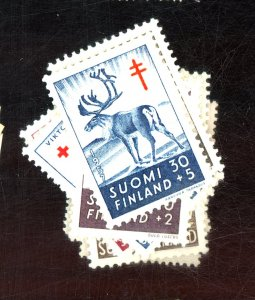 FINLAND #B132-144 MINT FVF OG HR Cat $26