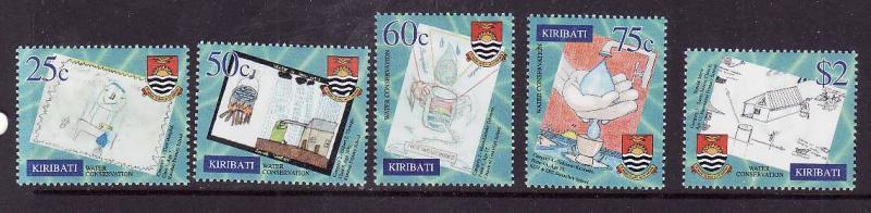Kiribati-Sc#779-83-Unused NH set-Water Conservation-Children's Art-2001-