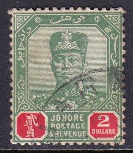 Malaya (Johore) - Scott #118 - Used - CTO, gum bump - SCV $5.00