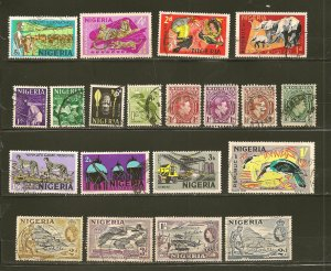 Nigeria Collection of 20 Different Stamps Used