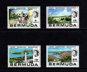 BERMUDA - 1971 - QE II - HAMILTON - LIGHTHOUSE - KEEP BEAUTIFUL - MINT MNH SET!