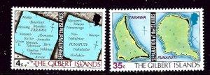 Gilbert Is 267-68 MNH 1976 Maps    (ap3946)
