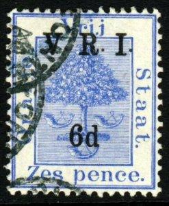 ORANGE FREE STATE 1900 V.R.I. 6d. on 6d. Blue SG 109 VFU