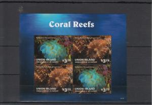 Union Island Grenadines St Vincent 2014 MNH Coral Reefs 4v M/S Marine Atlantic