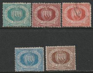 San Marino Sc 6,9,11,14,18 partial set mixed