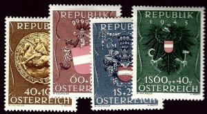 Austria B264-B267 Mint VF sm hr SC$50.00....Grab a Bargain!
