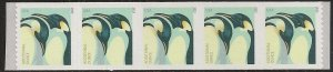 US 4990 Penguins additional ounce coil strip (5 stamps) MNH 2015