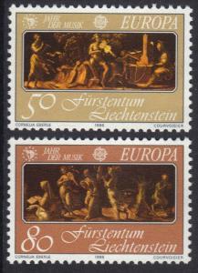 Liechtenstein  #804-805  1985  MNH  Europa   complete