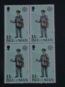 ISLE OF MAN-1979 SC#153-EUROPA- CONTEMPORARY MAILMAN  -MNH BLOCK OF 4-VF