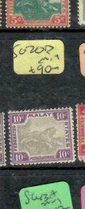 MALAYA  FMS (P1612B)   TIGER  10C  SG 20D    MOG