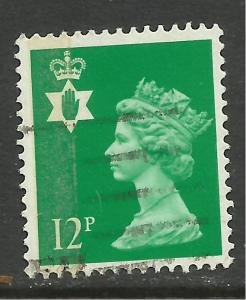 Northern Ireland GB 1986 QE2 12p Bright Emerald SG NI 35 ( G639 )