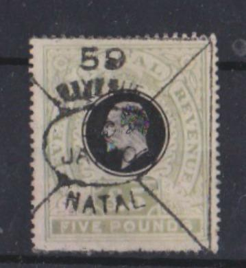 NATAL £5 1904-1908 Shades not listed very rare