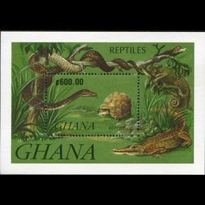 GHANA 1992 - Scott# 1422 S/S Reptiles NH