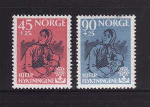 Norway B64-B65 Set MNH World Refugee Year (A)