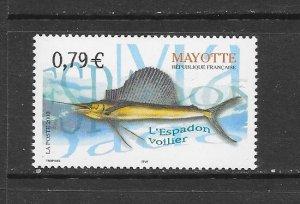 FISH - MAYOTTE #187   MNH