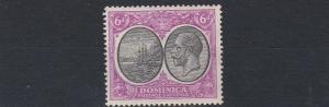 DOMINICA  1923 - 33   S G  82    6D   BLACK  &  MAGENTA             MH