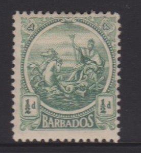 Barbados Sc#153 MH - pencil on back