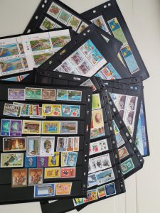 MALAYSIA EARLY 70s TO 80s MINT STAMPS COLLECTION ON 11 STOCKCARDS